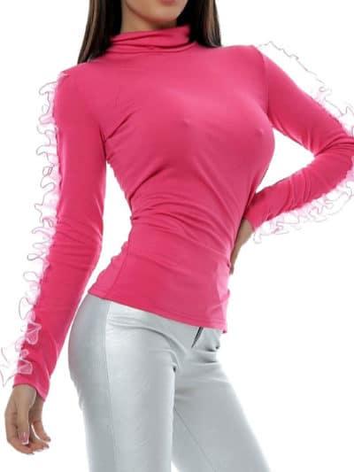 Bluza aplicatie organza