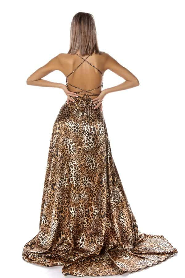 Rochie lungă tigrată