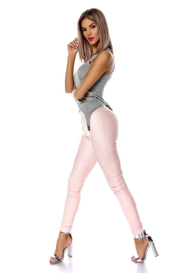 Pink tights si Top cu portjartier