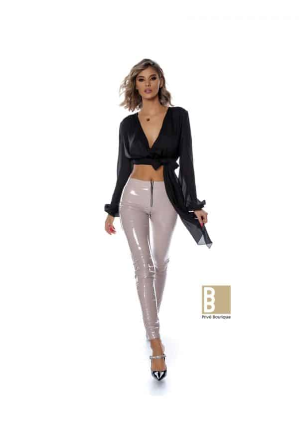 Colanti hot si crop top voal