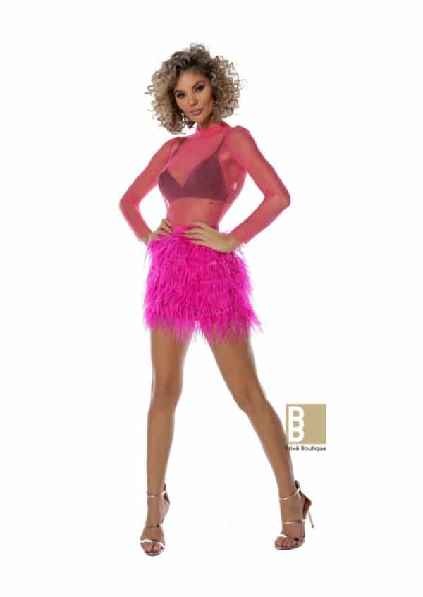 Diva dress si body tulle color