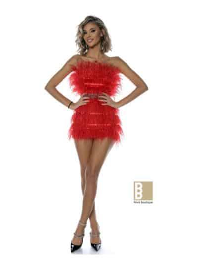 rochie diva, rochie cu pene, rochie de seara, rochie de eveniment, rochie sexy, rochie scurta