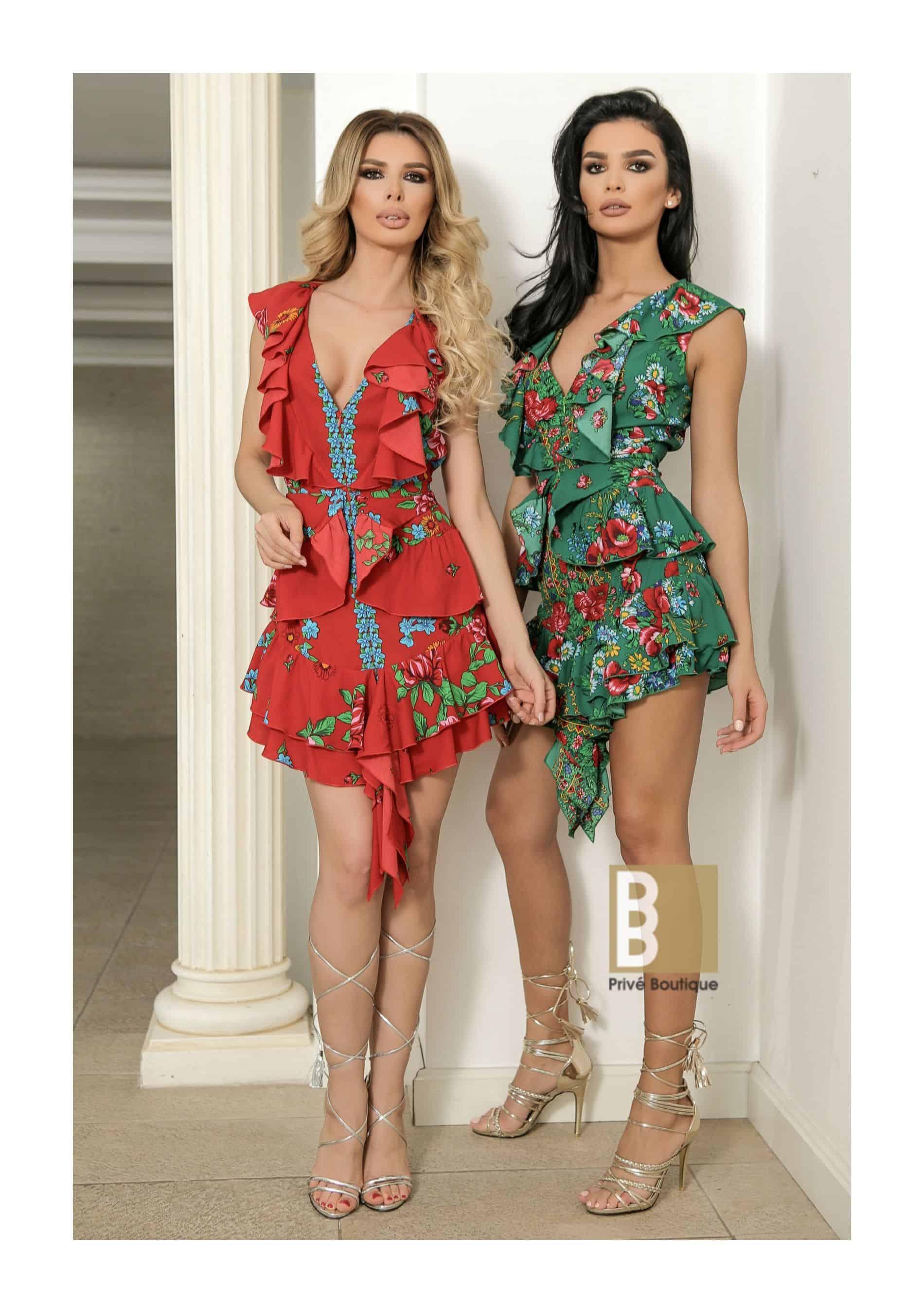 rochie imprimeu floral, rochie scurta, rochie decoltata, rochie sexy, rochie imprimeu, rochie flori, rochie dama