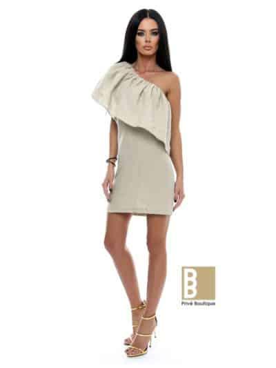 rochie in, rochie umar gol, rochie in umar gol, rochie de eveniment, rochie confortabila, rochie de vara