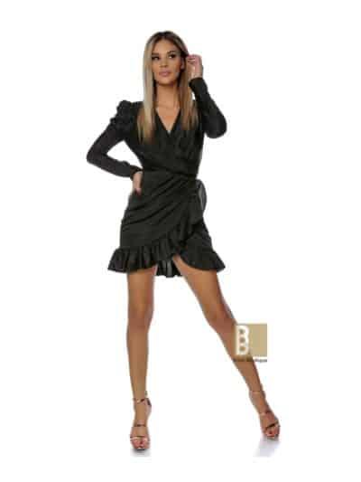 rochie lurex, rochie cu volane, rochie rose, rochie neagra, rochie ocazie, rochie sexy, rochie de seara