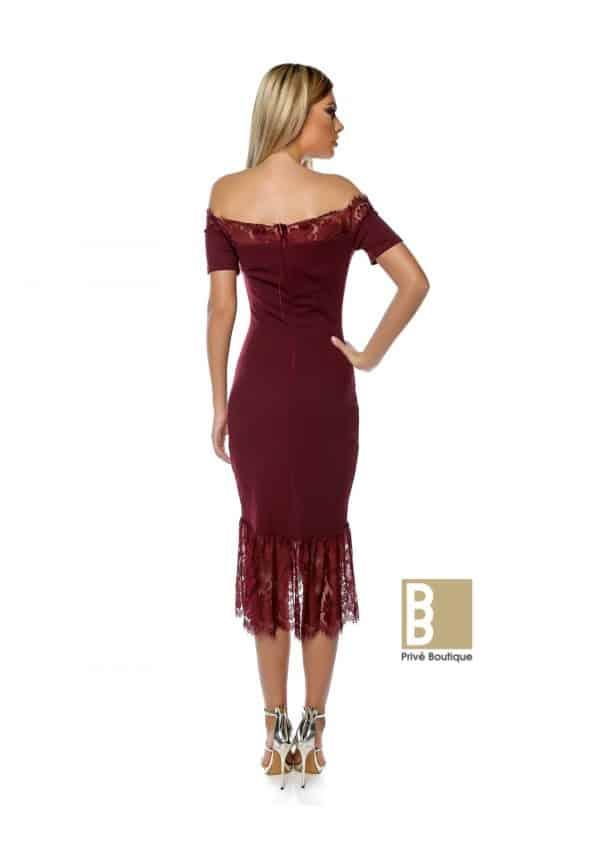 rochie midi sirena, rochie rosie, rochie visinie, rochie sexy, rochie de ocazie, rochie de seara