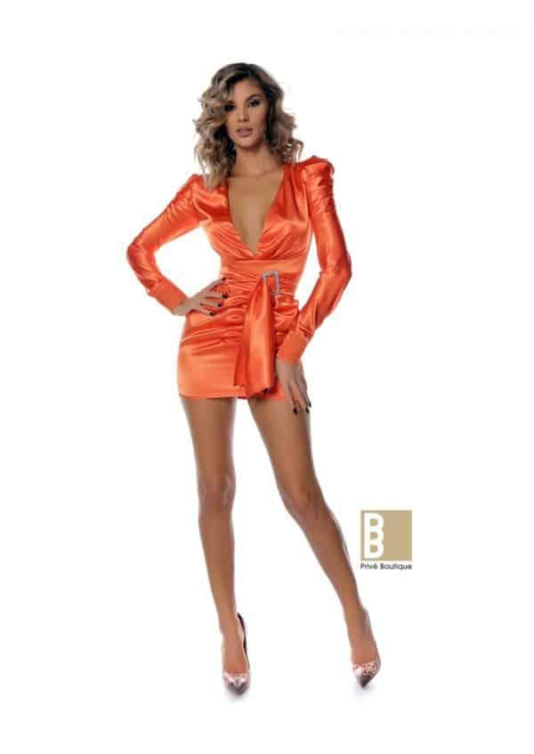 rochie saten scurta, rochie dama, rochie saten portocalie, rochie saten neagra, rochie de ocazie, rochie eveniment, rochie de seara