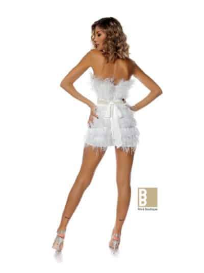 rochie alba, rochie de ocazie, rochie de club, rochie vedeta, rochie puf, rochie cambrata